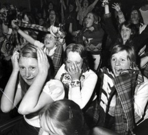 Fans Of Pop Group Bay City Rollers At Concert In Hanley Stoke 1975